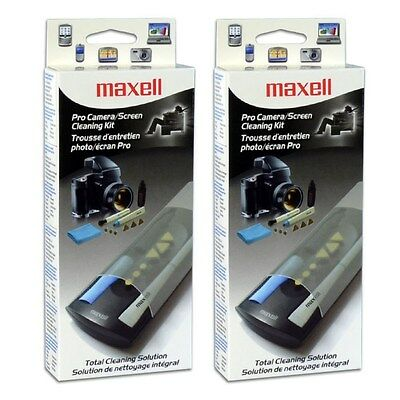 2x  Maxell digial camera Lens Cleaner Cleaning Kit for Canon Nikon Sony SLR DSLR