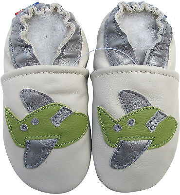 carozoo corn cream 12-18m new soft sole leather baby shoes