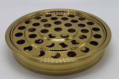 "Brass Tone ---Stainless Steel Communion Tray - 12.2"" - Holds 40 - NEW"