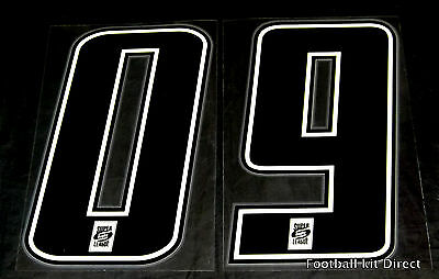 Official Super League Rugby Shirt Numbers Number 0-9 Black