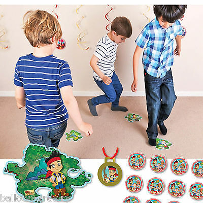 21 Piece Jake And The Never Land Pirates Island Hopping Jumping Party Game