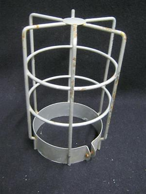 Vintage Industrial Factory Warehouse Cage For Light Fixture #2621-13