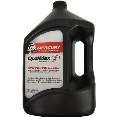 Mercury New OEM 2 Cycle Synthetic Blend Optimax / DFI Outboard Engine Oil Gallon