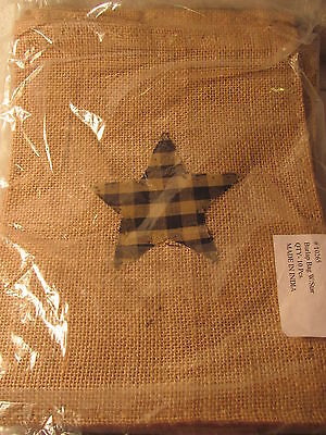 "VERY PRIM 8"" X 10"" Fabric Star BURLAP BAG Brand NEW PRIMITIVE DECOR Lot of 10"