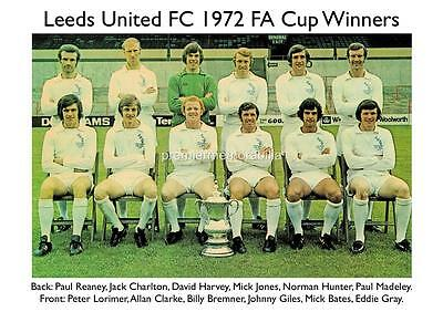 Leeds United Fc 1972 Fa Cup Winners Billy Bremner Allan Clarke Exclusive Print