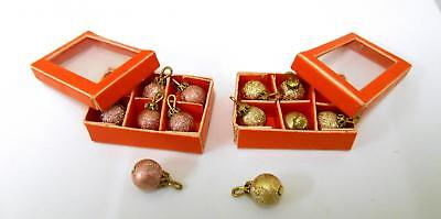 Dolls House Miniature 1:12 Accessory 2 Boxes Christmas Baubles for Xmas Tree