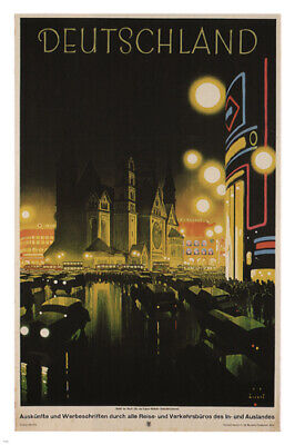 Germany VINTAGE TRAVEL POSTER by Jupp Wiertz Germany 1927 24X36 rare NEW