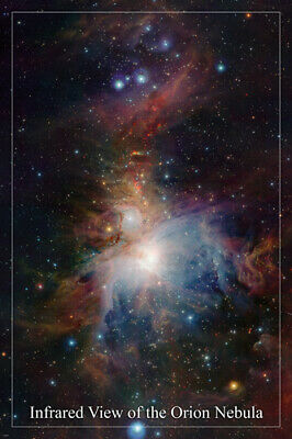 INFRARED VIEW OF the Orion nebula SPACE IMAGE poster 24X36 hot NEW rare!