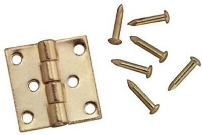 Dollhouse Miniature Brass  Butt Hinges with Nails
