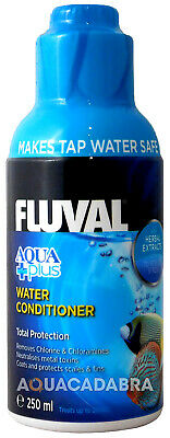FLUVAL AQUAPLUS 250ml WATER CONDITIONER TAP SAFE FRESH NUTRAFIN FISH TANK