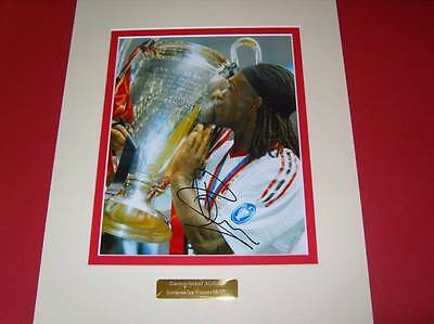 Clarence Seedorf AC Milan Legend Champions League signed photo mounted COA AFTAL
