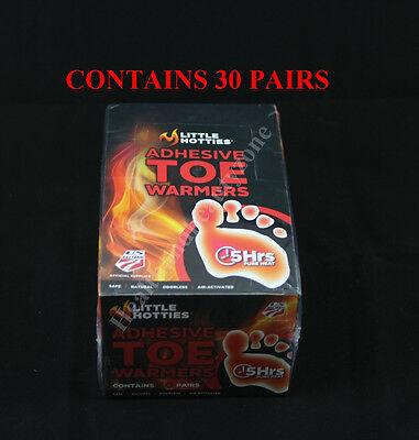 Box of 30 Pairs Little Hotties Adhesive Toe Warmers US Ski Team