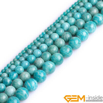 "Natural Green Russian Amazonite Gemstone Round Beads 15"" 4mm 6mm 8mm 10mm 12mm"