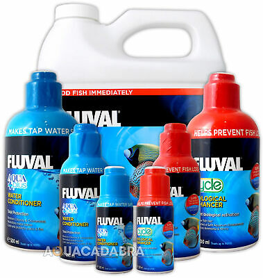 Fluval Aquaplus & Cycle Biological Water Conditioner Fish Tank Tap Safe Nutrafin