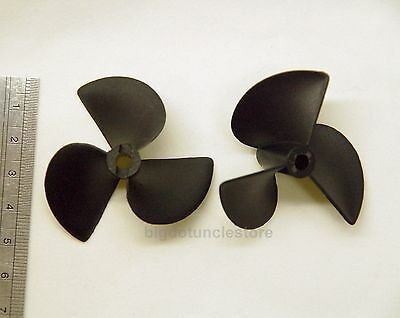 295g 2x 3-Bladed Boat Propellers,D52mm,P80mm, Shaft:Φ4.8mm Left-Hand for RC Boat