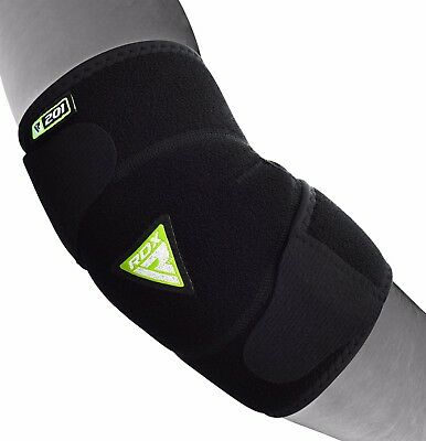 RDX Elbow Support Brace Guard Sleeves Arm Pads Straps MMA Wrap Gym Bandage 201