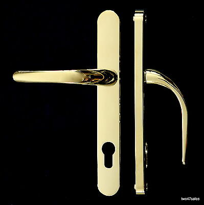 GOLD BRASS POLISHED Quality SPRUNG Door Handle upvc euro Lock Lever silver Patio