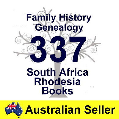 South Africa Rhodesia Family History Tree Genealogy Old Historic Books 2 DVD