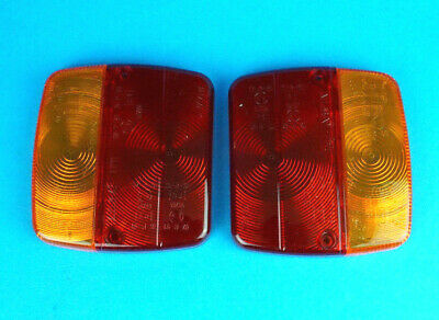 2 x AJBA FP11 Replacement LENS for Rear Trailer Lamp Light - Daxara & Erde