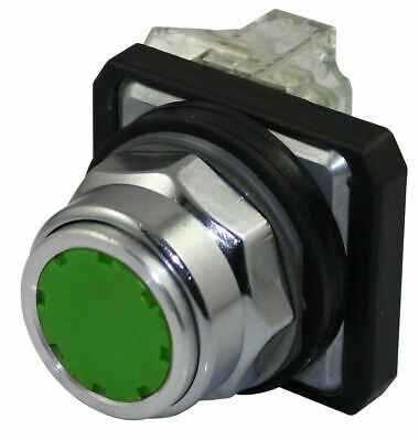 SUNS PBM30-FP-G-P13 30mm Green Guarded Pushbutton 1NO 1NC 9001KR1GH13 9001KR1GH5