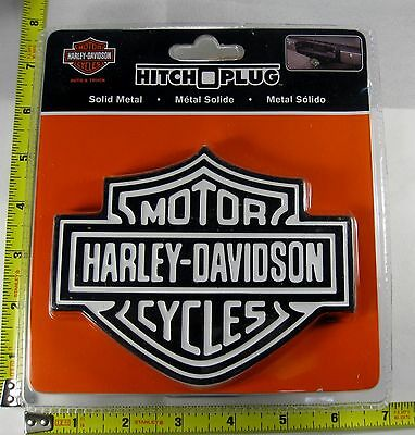 Harley Davidson White Shield Hitch Cover Plug Solid Metal Truck Trailer New L897