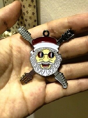 Grateful Dead Dead Head Christmas Jerry Ornament  Jerry Garcia Relix  Pin