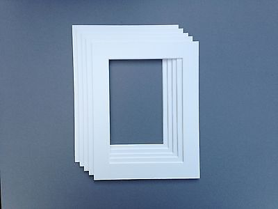 9 x 7 Inch to fit 7 x 5 White Photo & Picture Mounts - 5 PACK
