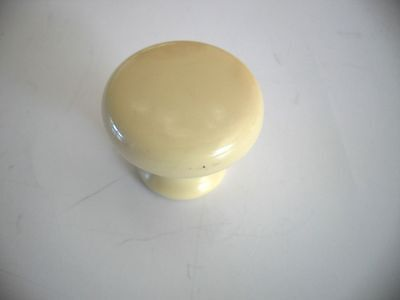 NIP CREME Colored Plastic KNOBS Drawer Pulls Cabinet Handles Mushroom Shaped