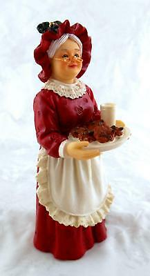 Dolls House Miniature 1:12 People Resin Figure Mrs Claus Mother Christmas Lady