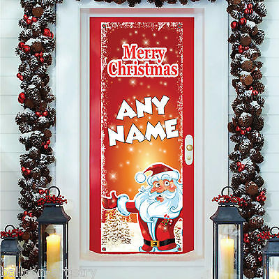 6ft Christmas Personalised SANTA CLAUS PVC Plastic Door Poster Banner Decoration