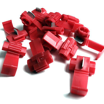 Red Quick Splice Scotch Lock Wire Connectors Electrical Cable Joints Auto Qs1