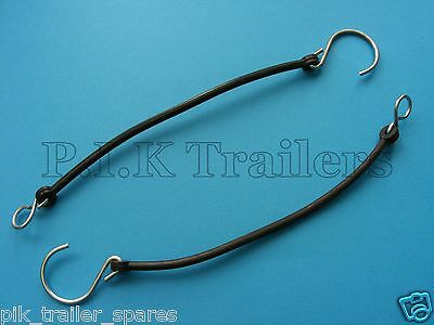 2 x Black Partition Retainer Hooks 200mm Ifor Williams Horse Box Trailer P1021