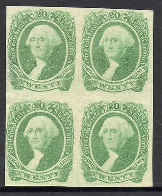 CSA Scott #13a VF Guide Line Block of 4 Confederate Stamps