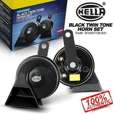 New & Genuine HELLA Black Twin Tone 12V Horn Set for Ute 4x4 Car SUV 4WD