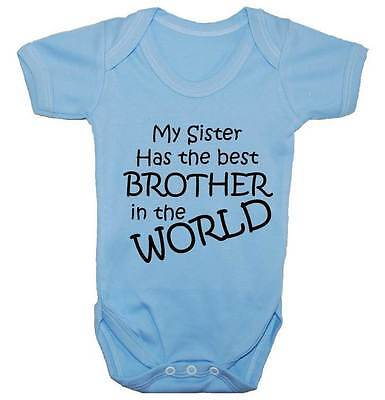 Worlds Best Brother Baby Grow/Bodysuit/Romper/Vest/T-Shirt NewB-24m Funny Gift
