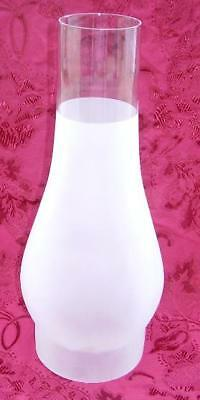 Glass Chimney 4 by 12 inch big store oil lamp frosted