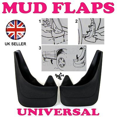 1R FRONT FOR FORD ESCORT FOCUS MK1 MK2 MK3 2 x RUBBER MOULDED MUDFLAPS MUD FLAPS