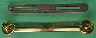 2 IN A ROW MILITARY RIBBON HOLDER MOUNTING BAR -  Brass made in the USA