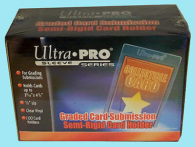 100 ULTRA PRO SEMI RIGID GRADED Card Holder NEW Sleeves PSA BGS Submission 43000