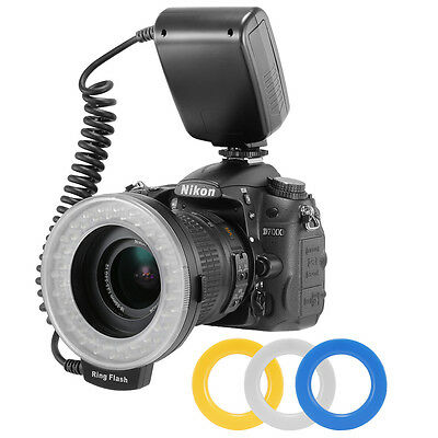 Macro LED Ring Flash RF550D LCD display for Nikon Canon EOS 50D 40D DSLR