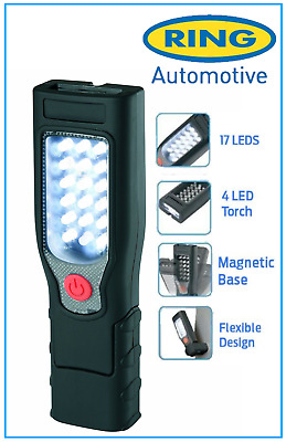 New Ring Automotive RIL40 17+4 LED Inspection Lamp/Torch Rechargeable & Cordless