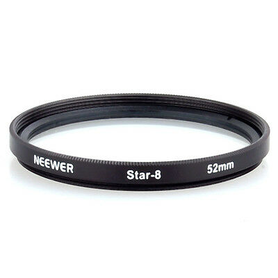 52mm 8 Point Star Light Flare Cross Filter 8-pointed