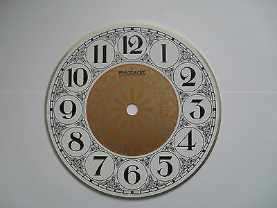 Aluminium Clock Dial Gold/white 167Mm Dia With Black Numerals 493