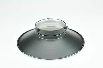 120 Degree Silver Reflector Shade Fit Bowens S Type 22cm Diameter Wide Angle