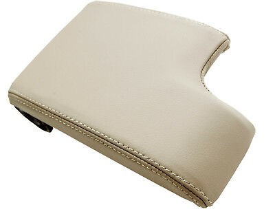 Fits 99-04 BMW E46 Synthetic Leather Vinyl Console Lid Armrest Cover Tan