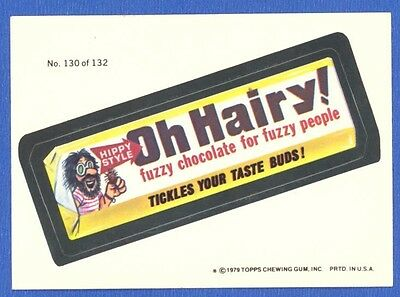 1979  Topps Wacky Packages 2nd Series  # 130 Oh Hairy ! Bar
