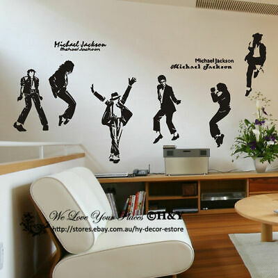 Large Michael Jackson Wall Stickers Vinyl Wall Decal Removable Art Home Mural AU