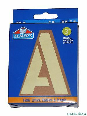 """Lot Of (2 Boxes) Elmer's Gothic 3"""" Letters Numbers And Symbols Stencil Kits"""