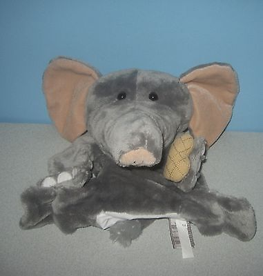 """12"""" GUND Nuts About You Elephant Stuffed Plush Play Hand Puppet #319562"""