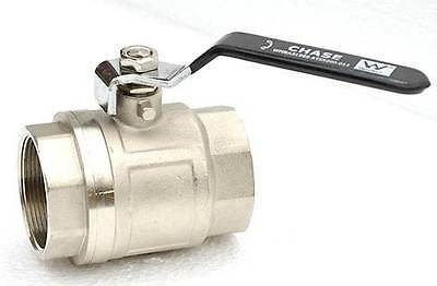 "Ball Valves Brass 1.5"" (38mm) 1/4 Turn F/F - Watermarked Compliant"